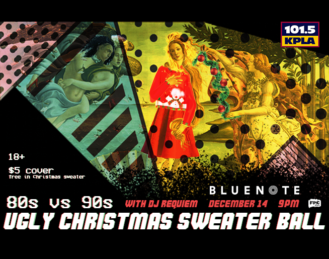 KPLA Presents the 80s vs 90s Ugly Sweater Christmas Party