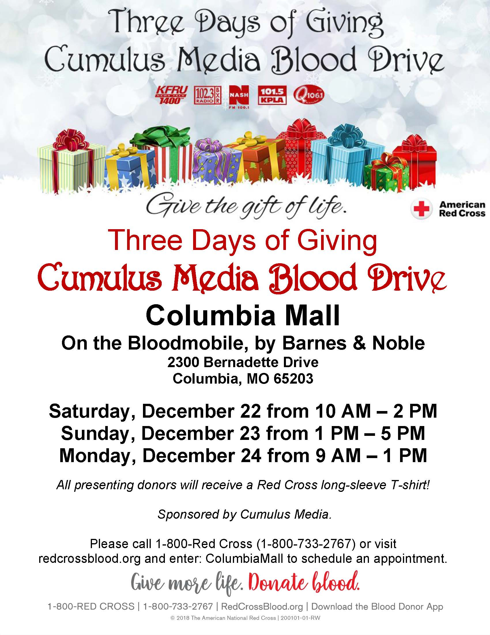 Cumulus Media Three Days Of Giving Blood Drive