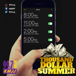 Your THOUSAND DOLLAR SUMMER starts tomorrow! Listen in to win your share of $4k daily from your BIG STATION
