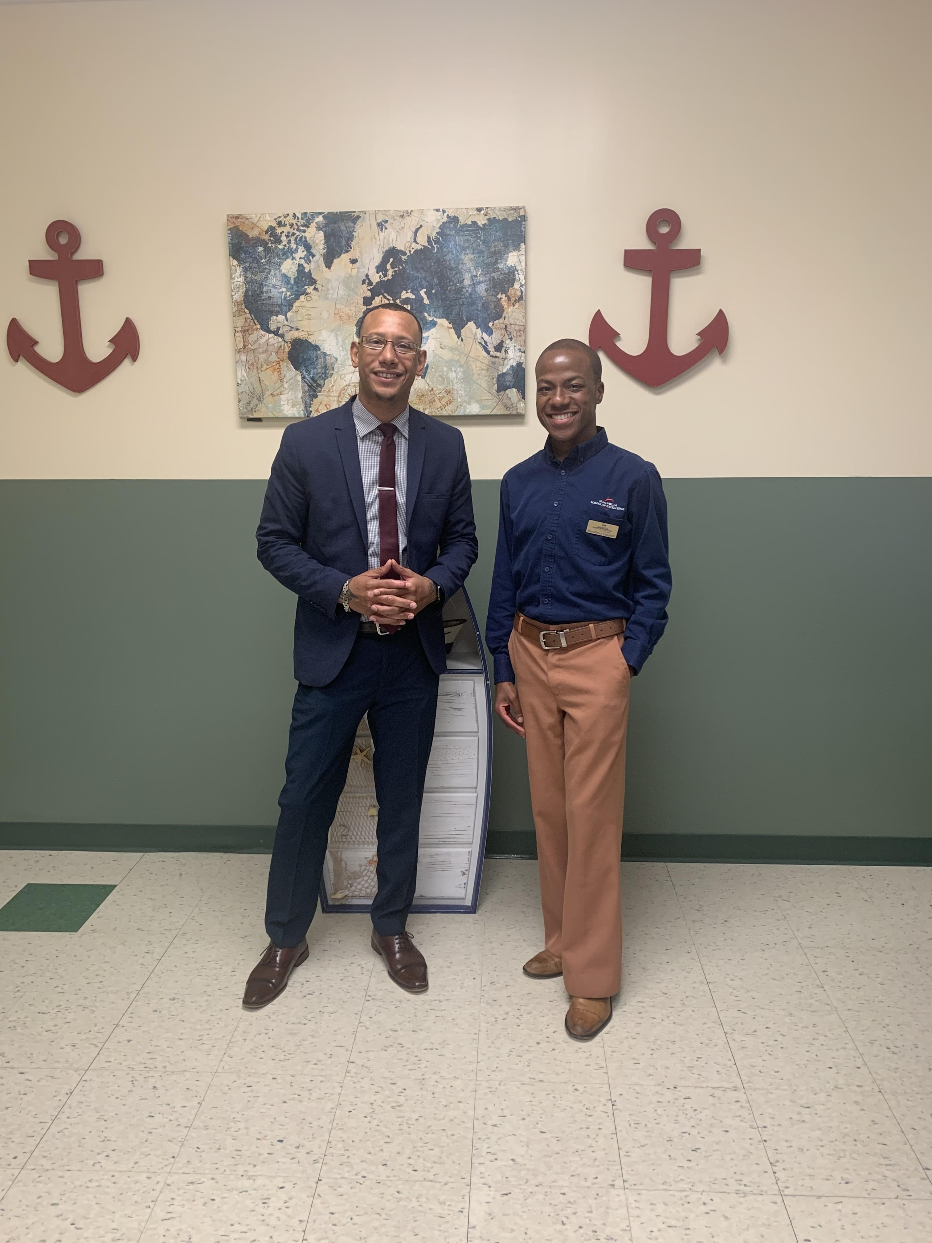 Back to school with Mr. Campbell at Magnolia School Of Excellence