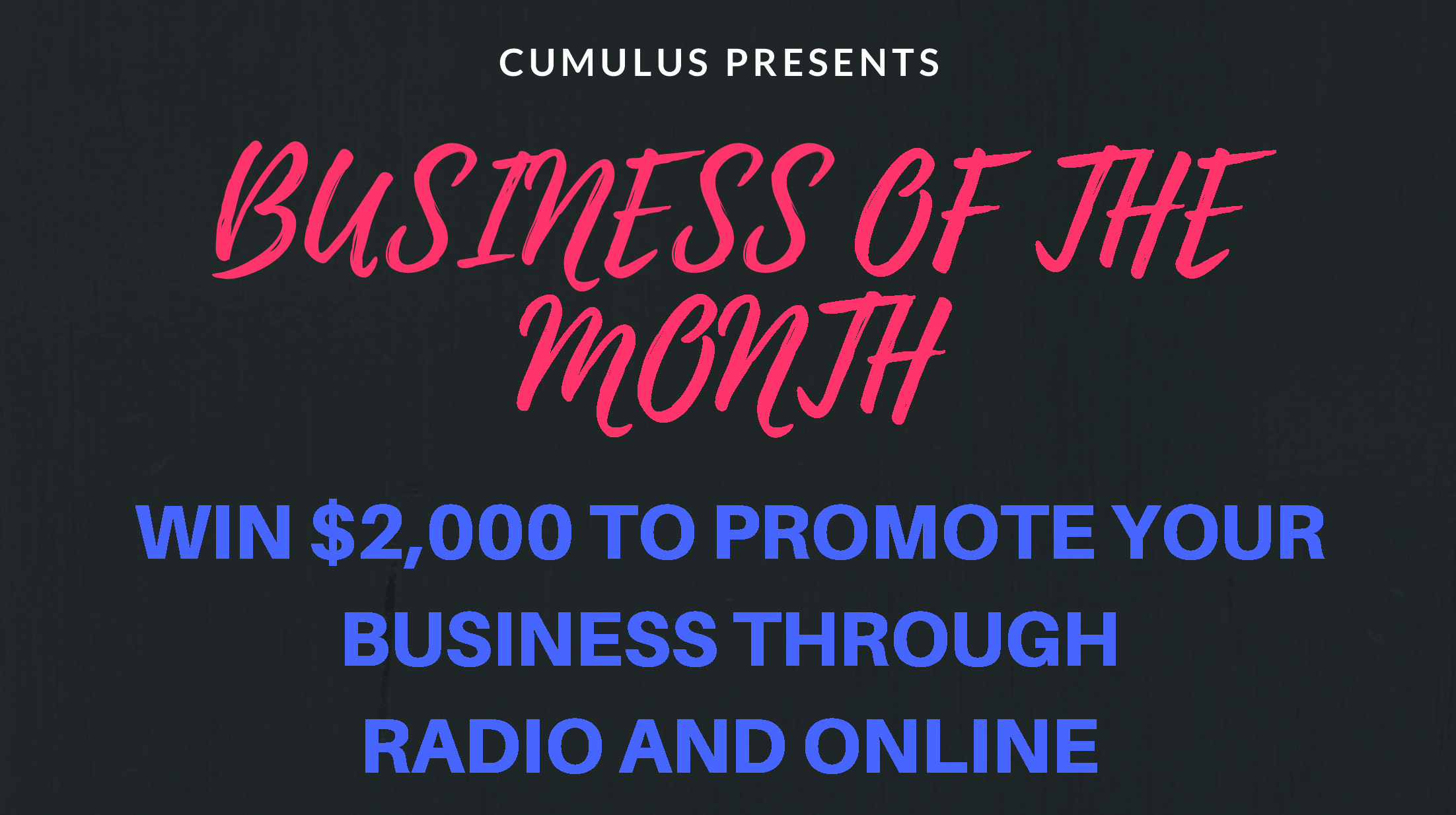 Cumulus Business of the Month