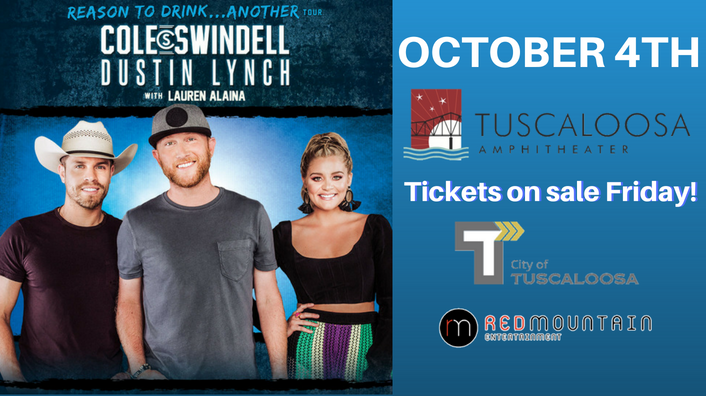 Cole Swindell and Dustin Lynch-October 4th at the Tuscaloosa Amphitheater