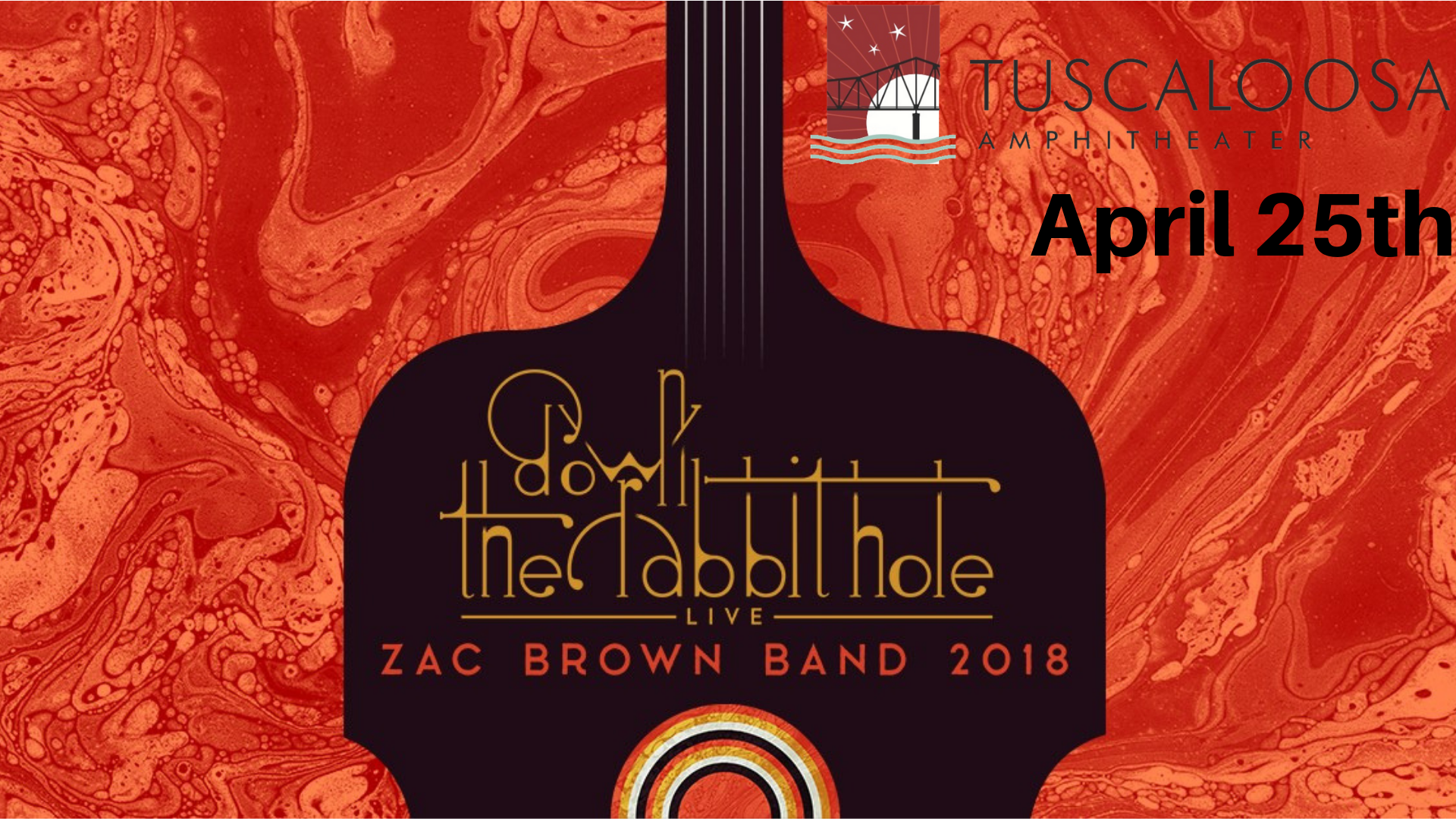 Zac Brown Band Tuscaloosa Amphitheater April 25th