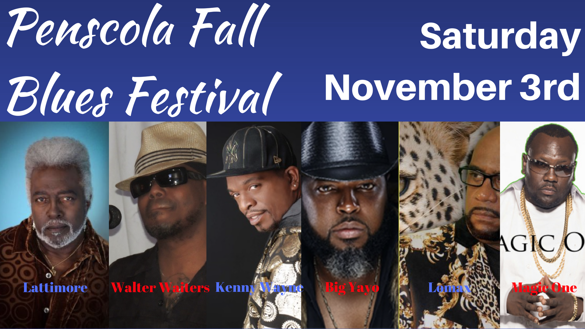 Beach N' Blues- Pensacola Fall Blues Festival on November 3rd