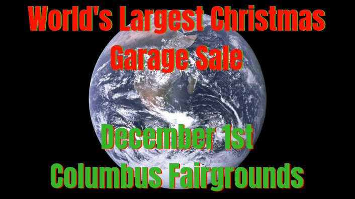 World's Largest Christmas Garage Sale-December 1st