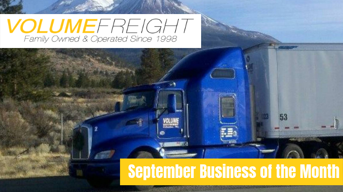September Business of the Month-Volume Freight