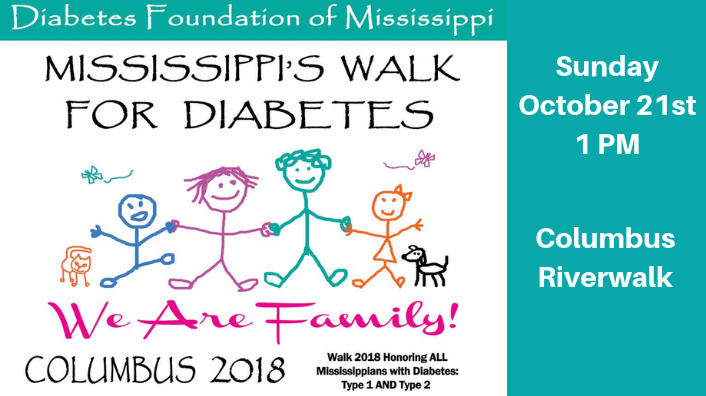 Mississippi's Walk for Diabetes-Sunday October 21!