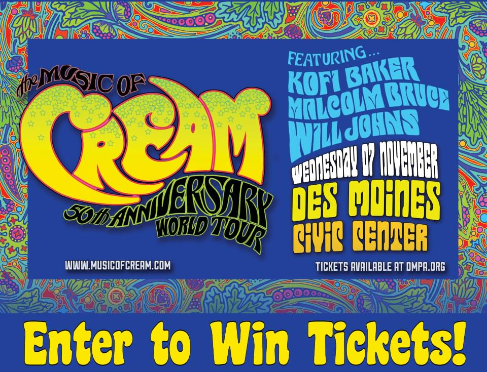 The Music of Cream at Des Moines Civic Center!!