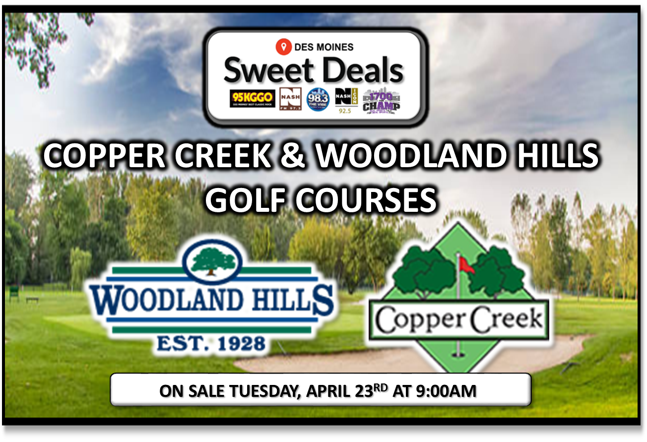 Sweet Deal – Copper Creek & Woodland Hills Golf Card!