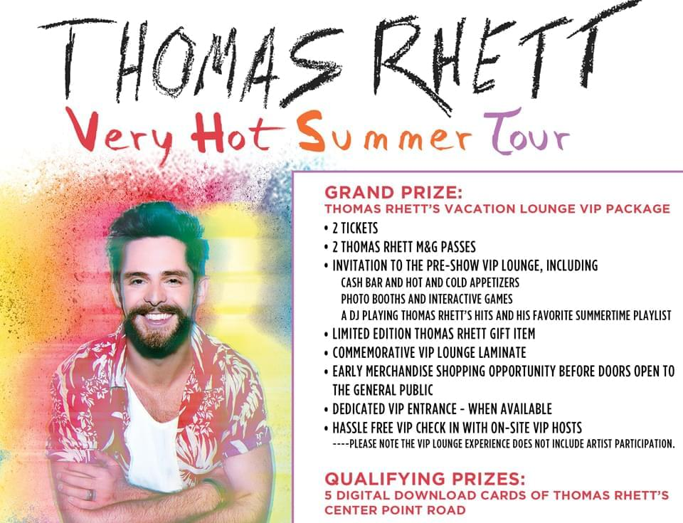 Win Thomas Rhett's Vacation Lounge VIP Package