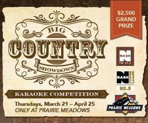 Big Country Showdown at Prairie Meadows