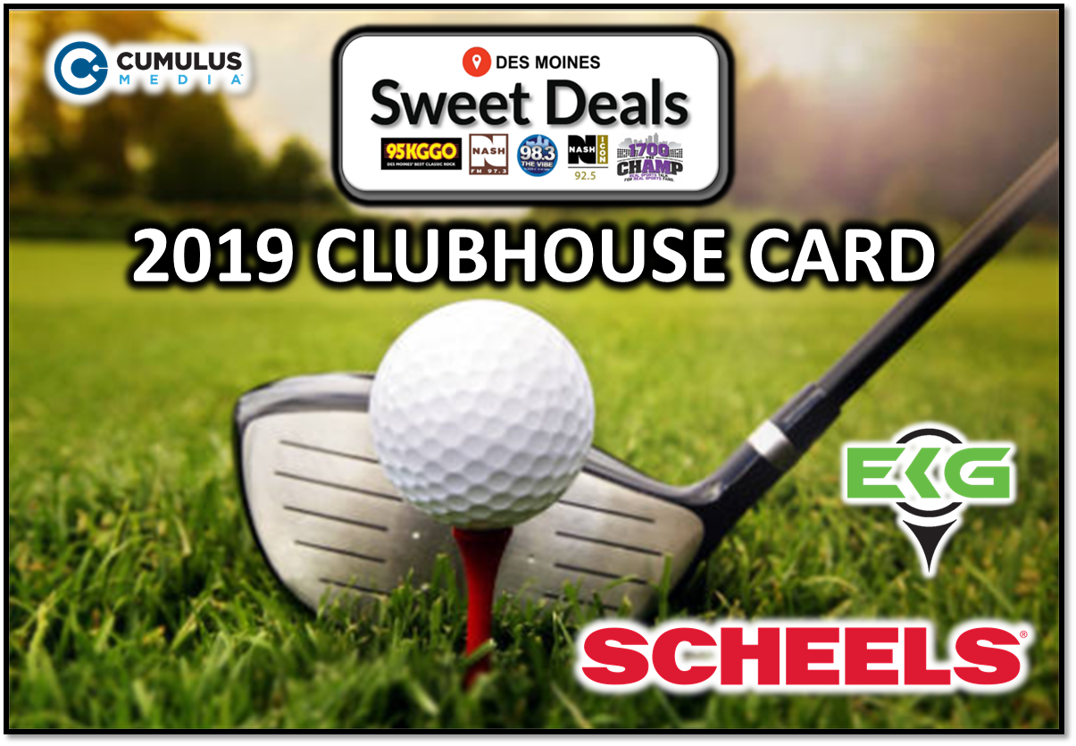 Sweet Deal – 2019 Clubhouse Golf Card!