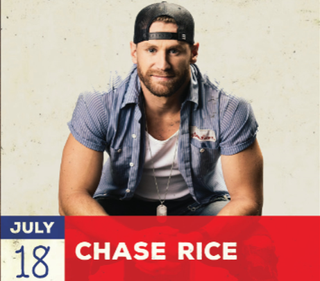Chase Rice at the Big Country Bash