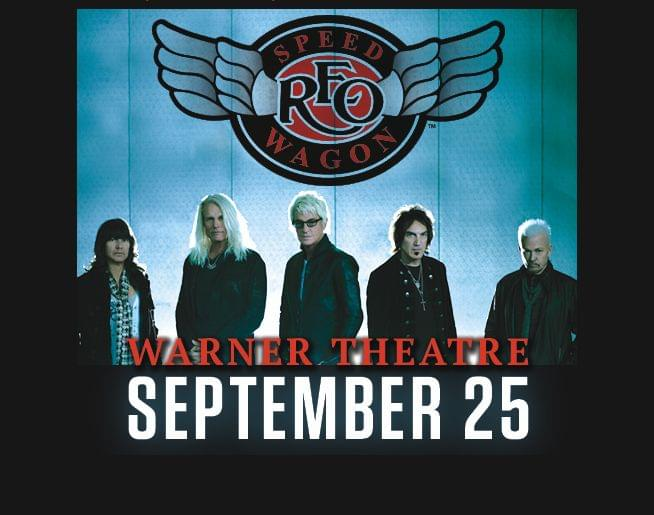 REO Speedwagon at our Warner Tuesday, September 25th!