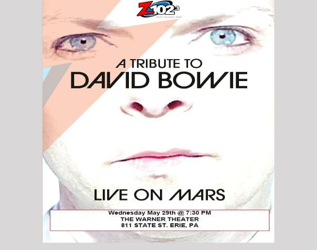 Z1023 presents Live on Mars – David Bowie Tribute at Warner Theatre May 29 – Listen to Win Tickets!