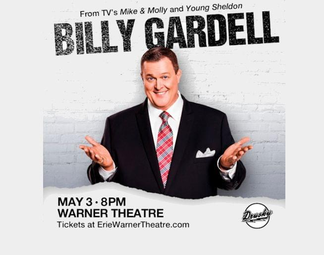 Billy Gardell – from TV's Mike & Molly and Young Sheldon coming to the Warner May 3rd!