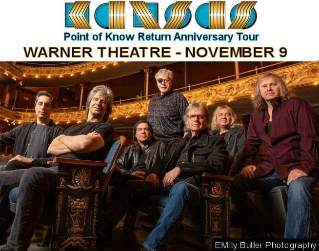 KANSAS – Point of Know Return – at the Warner Nov. 9 – Presale Link Here!