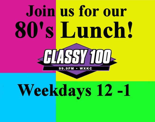 Join us for our 80's Lunch!
