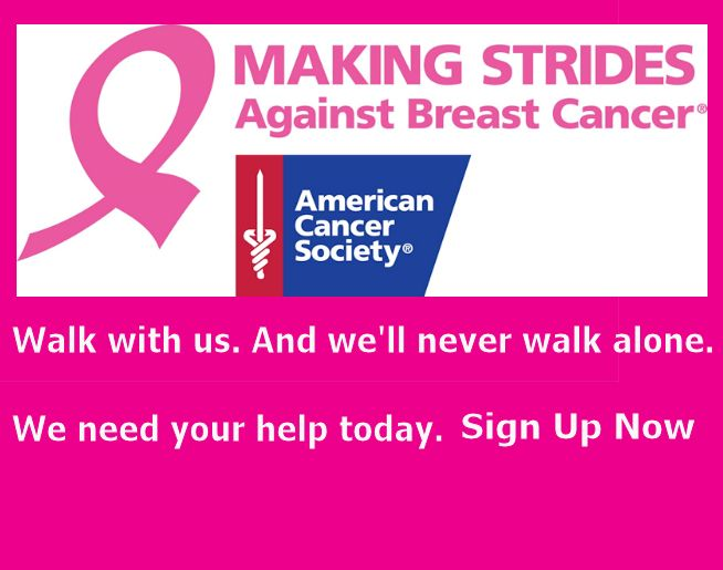 Making Strides Against Breast Cancer 2018 – Oct 6, at Frontier Park!