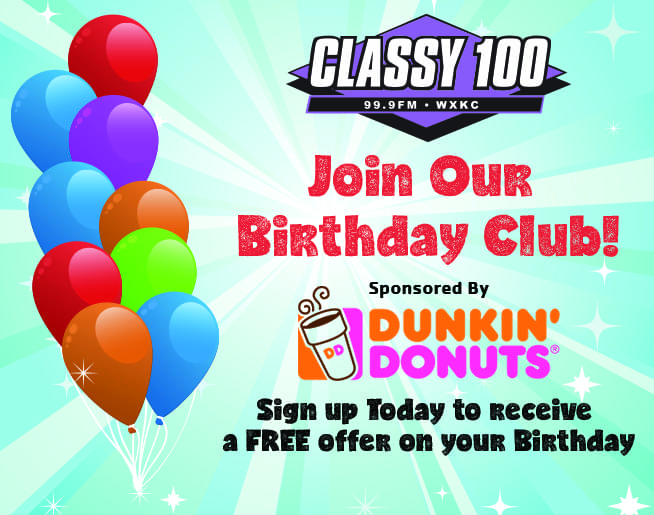 Join our Classy 100 Birthday Club