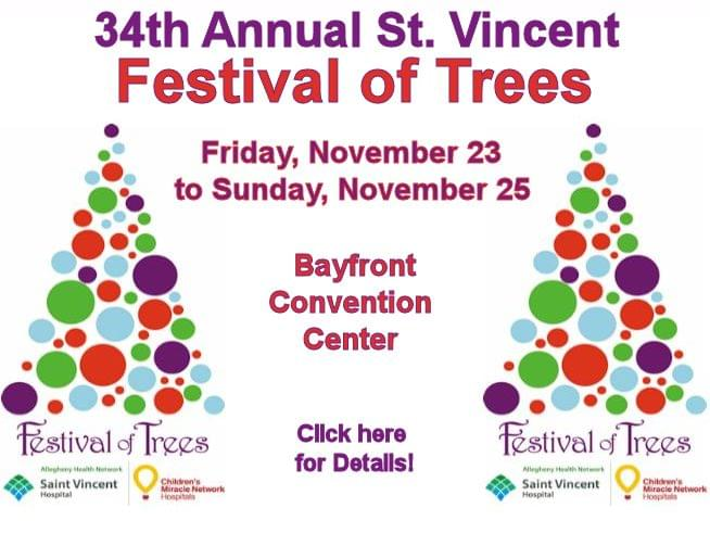 34th Annual Saint Vincent Festival of Trees!