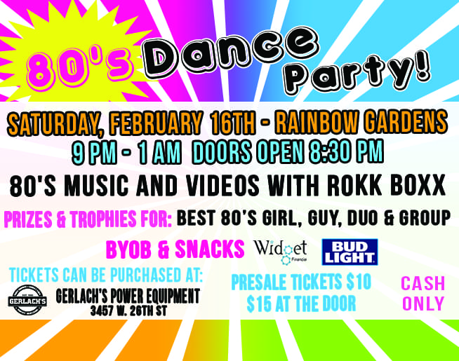 Don't miss the 80's Dance Party!
