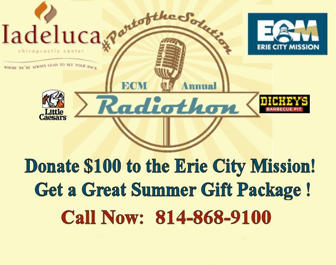 Iadeluca Chiropractic Center 2016 Erie City Mission Summer Radiothon!