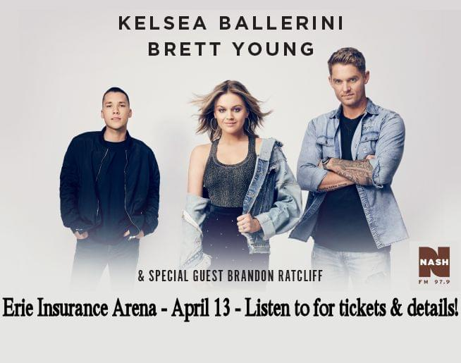 Kelsea Ballerini, Brett Young & Brandon Ratcliff coming to Erie Insurance Arena!