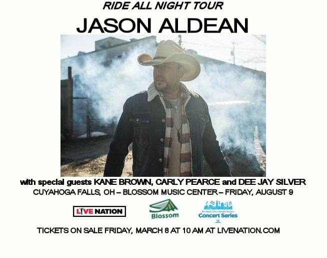 Jason Aldean at Blossom Music Center – Friday, Augus 8!