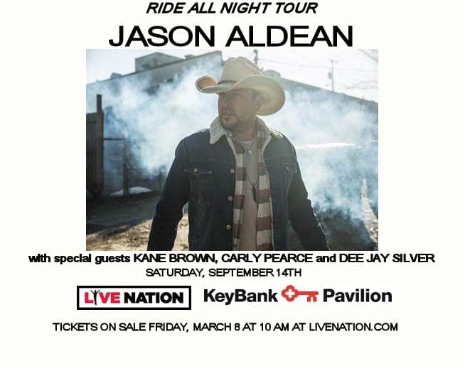 Jason Aldean at KeyBank Pavilion- Sat, Sept 14, 2019