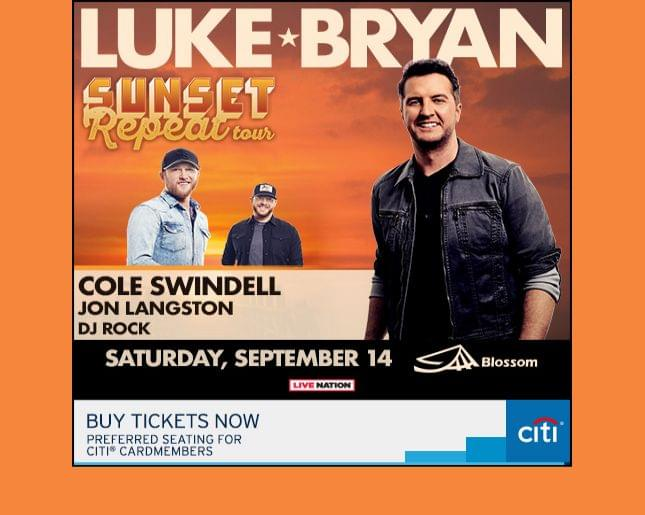 Luke Bryan's Sunset Repeat Tour Coming to Blossom Music Center Sept 14 – Tickets on sale now!