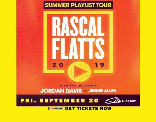 Rascal Flatts at Blossom Sept. 20! Tickets on sale now!