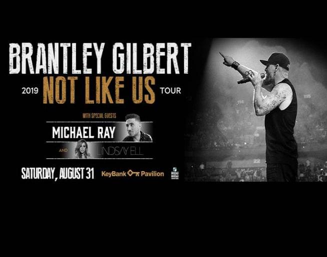 Brantley Gilbert – Sat, Aug 31-KeyBank Pavilion!