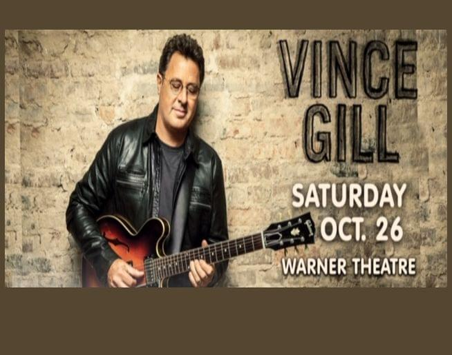 Vince Gill at our Warner Theatre on Oct. 26! Tickets on sale Friday, 6/14 @ 10am!