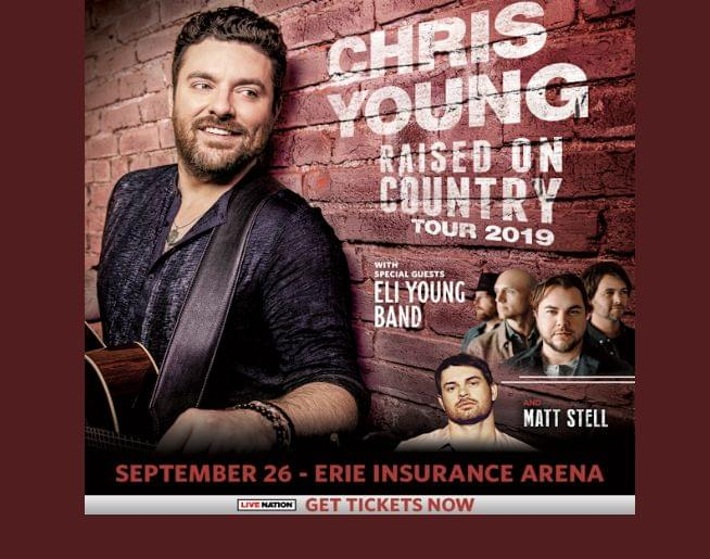 Chris Young – Raised on Country Tour at Erie Insurance Arena Sept 26!