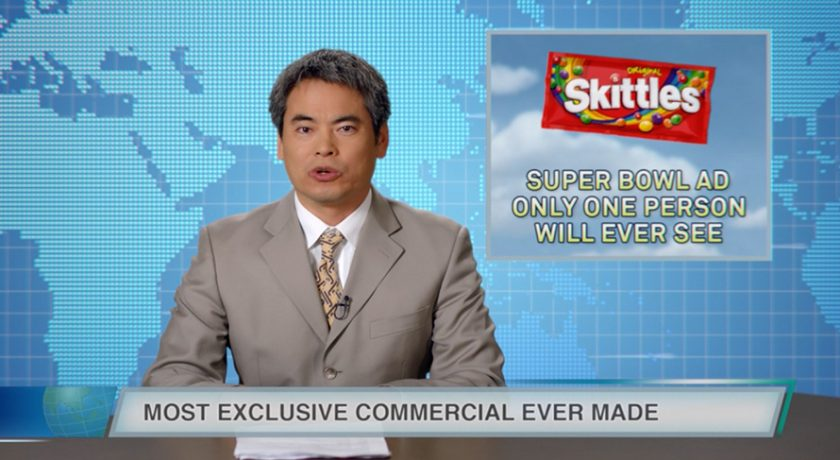 Skittles Bought An Ad in That Game February 4….But Only One Person Will See It