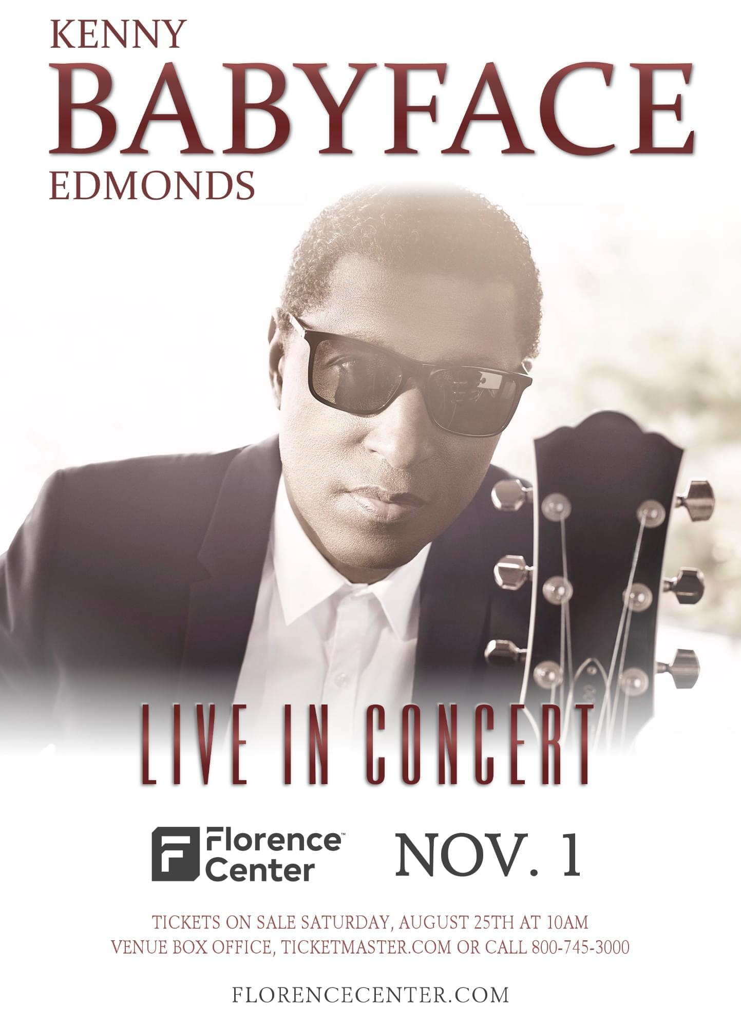 "Babyface ""Live at the Florence Center"" — Ticket Giveaway"