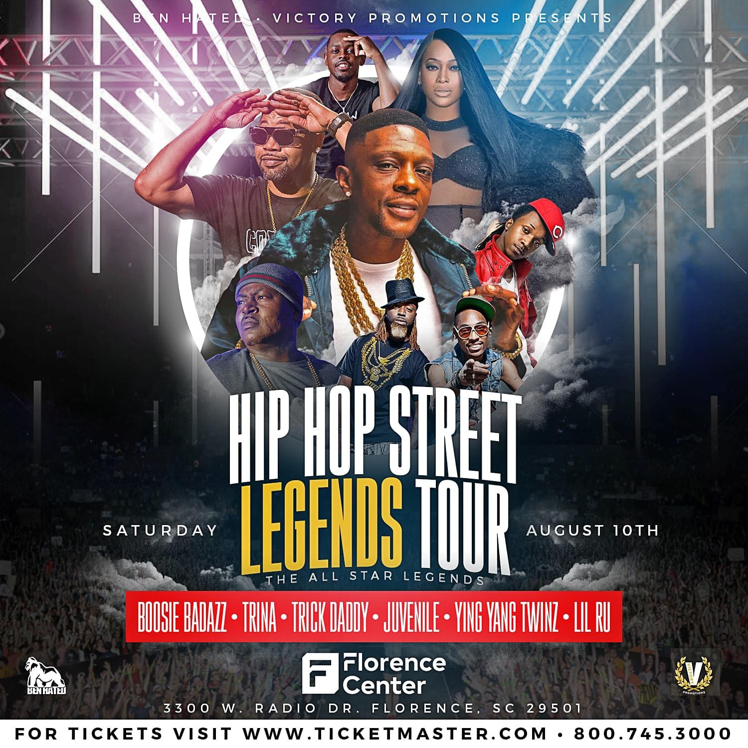 Hip Hop Legends Tour — Florence Center on Saturday, August 10th