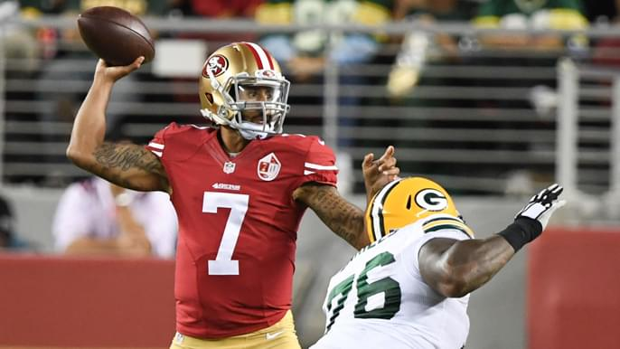 John Lynch calls absence of Kaepernick in 49ers-Packers gallery a 'glaring omission'