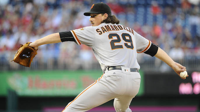 Samardzija allows five runs as Giants lose again