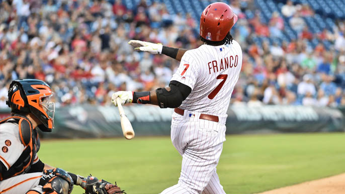 Phillies walk-off on Giants in 12-inning win