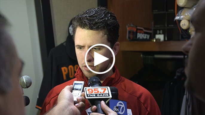 Posey: Giants are a group of guys that 'enjoy being in that moment'