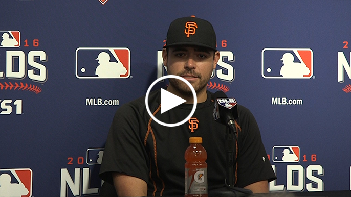Matt Moore explains why Bumgarner stands out in postseason
