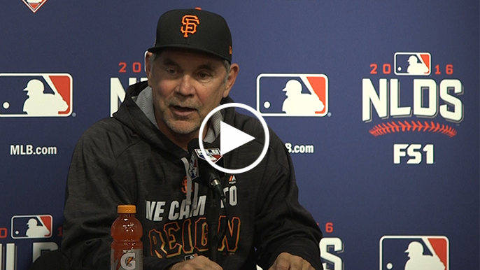 Bochy on 0-2 deficit: 'This can be done. It's not as big an uphill climb as you think.'