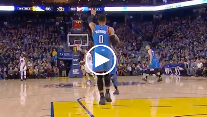 Curry on Westbrook walking up the court with the ball: 'I guess the limit is six steps'