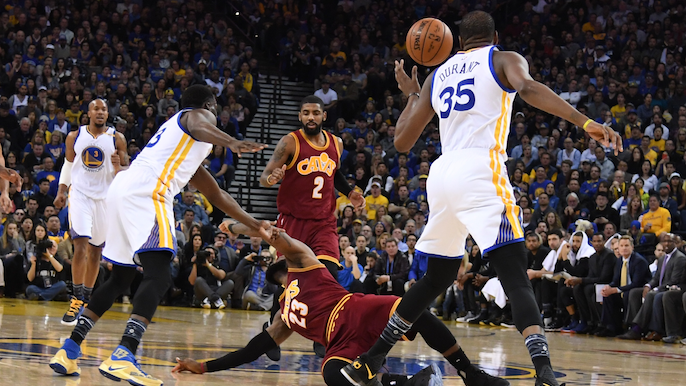 The problem with LeBron James' actions after collision with Draymond