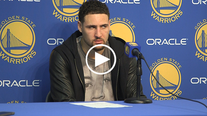 Klay hilariously rolls eyes at fans who think Warriors struggle to close out games