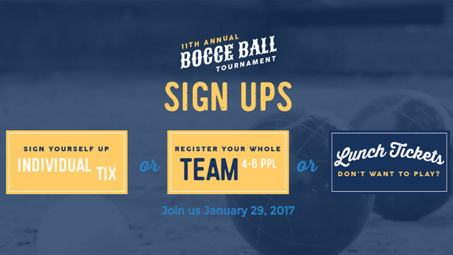 January 29: 11th Annual Bocce Ball Tournament