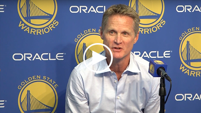 Kerr on Curry: 'He's humble and cocky at the same time, which is why we like him.'