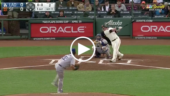 Arroyo's first big league hit comes off Clayton Kershaw